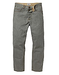 Jacamo Grey Button Fly Jean 27In Leg