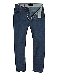 Jacamo Stonewash Button Jean 29In Leg