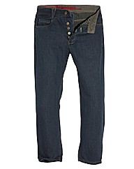 Jacamo Vintage Button Fly Jean 35In Leg