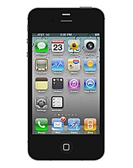 iPhone 4S with In Car Charger -Black 8GB