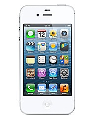 iPhone 4S with In Car Charger -White 8GB