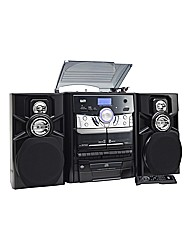 JDW Midi System with Turntable - Black