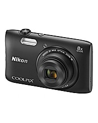 Nikon Coolpix S3600 Camera - Black