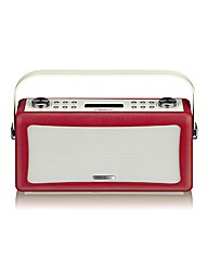 View Quest Hepburn Bluetooth Red Radio