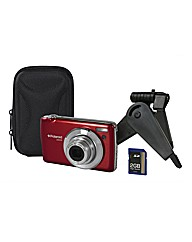 Polaroid 16mp Camera + Kit Red
