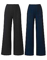 Pack of 2 Jersey Trousers Length 29in