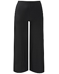 Wide Leg Jersey Trousers Length 29in