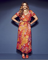 Anna Scholz Belted Print Maxi Dress