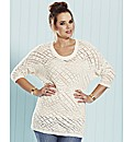 And Abigail Lace Look Knitted Sweater