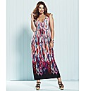And Abigail Border Print Maxi Dress