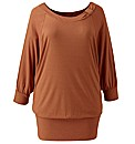 Jeffrey & Paula Knot Neck Jersey Top
