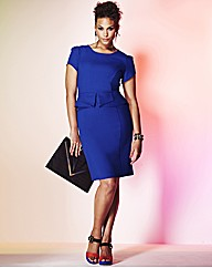 Grazia Fitted Peplum Dress