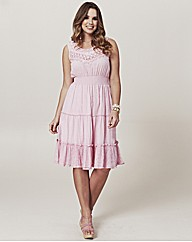 Frock and Frill Tiered Crochet Dress