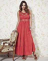 Frock and Frill Embellished Maxi Dress