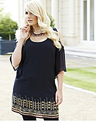Changes Boutique Cut Out Sleeve Tunic