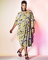 Grazia Print Kaftan Midi Dress
