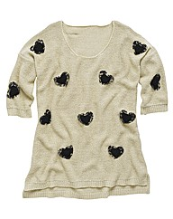 Angel Ribbons Amelie Heart Trim Jumper
