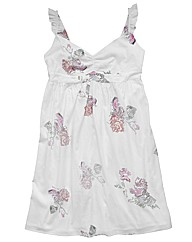 Angel Ribbons Cross Stitch Print Dress