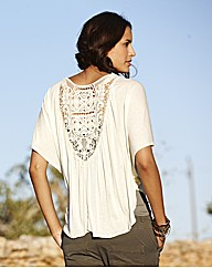 Spirit and Sands Lace Trim Shrug