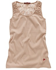 Spirit and Sands Lace Trim Vest