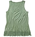 Angel Ribbons Bead Trim Vest Top