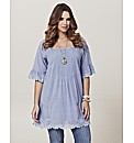 Frock and Frill Lace Trim Tunic