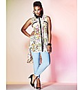Grazia Sleeveless Floral Print Blouse