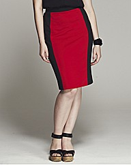 Bespoke Dita Contrast Panel Pencil Skirt