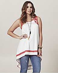 Frock & Frill Lace Shoulder Tunic Top