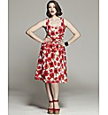 Bespoke Penelope Poppy Print Dress