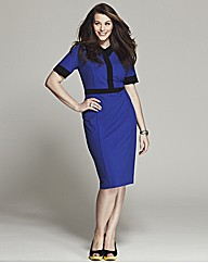 Bespoke Margot Contrast Pencil Dress