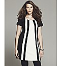 Bespoke Edie Contrast Panel Tunic Top