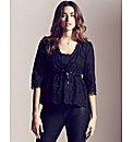Project D Embroidered Cover Up Shrug
