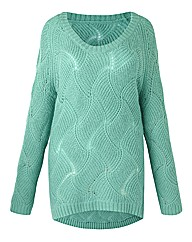 Jeffrey & Paula Wave Knit Design Jumper