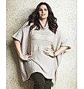 Jeffrey & Paula Sequin Trim Poncho