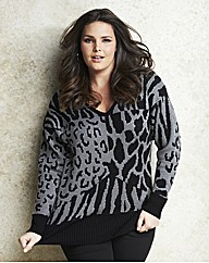Jeffrey & Paula Animal V Neck Jumper