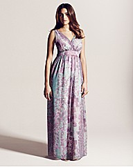 Project D Queens Print Maxi Dress 58in