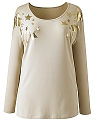 Angel Ribbons Kristina Star Trim Top