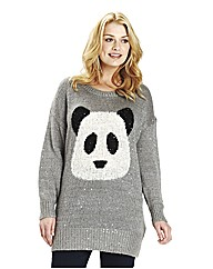 Angel Ribbons Sequinned Panda Jumper
