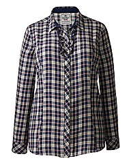 Timeout Check Ruffle Shirt