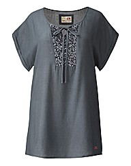 Spirit & Sands Sequin Trim Blouse