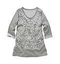 Angel Ribbons Aleyna Embossed Print Top