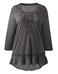 Angel Ribbons LilyRose Applique Trim Top