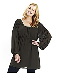 Angel Ribbons Sienna Pintuck Tunic Dress