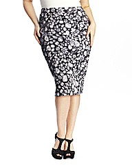 Anna Scholz Jewel Print Pencil Skirt