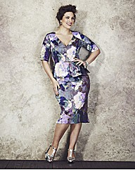 Anna Scholz Print Peplum Dress