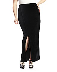Luxe Velour Split Detail Maxi Skirt