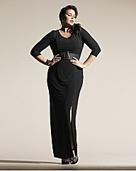 Luxe Stretch Jersey Maxi Dress