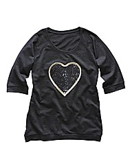 Angel Ribbons Divine Sequin Heart Top