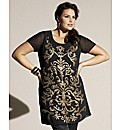 Luxe Sequinned Tunic Top